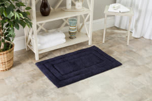 Safavieh Plush Master Bath PMB627B Navy / Navy Area Rug