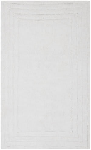 Safavieh Plush Master Bath PMB631W White / White Area Rug