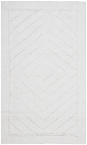Safavieh Plush Master Bath PMB635W White / White Area Rug