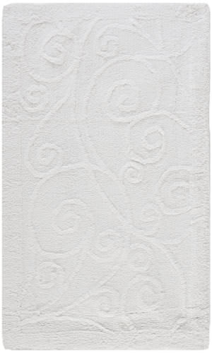 Safavieh Plush Master Bath PMB637W White / White Area Rug