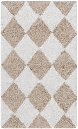 Safavieh Plush Master Bath PMB639C Cream / Beige Area Rug