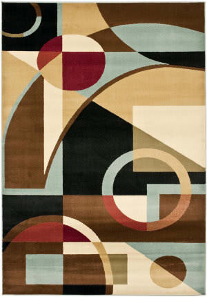 Safavieh Porcello Prl6845 Black / Multi Area Rug