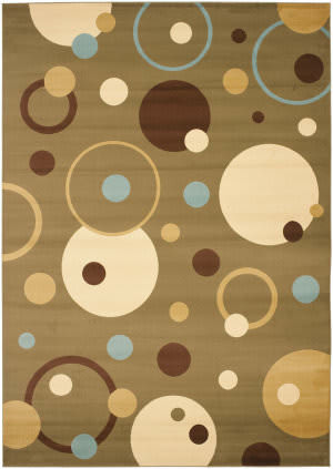 Safavieh Porcello Prl6851 Green / Multi Area Rug