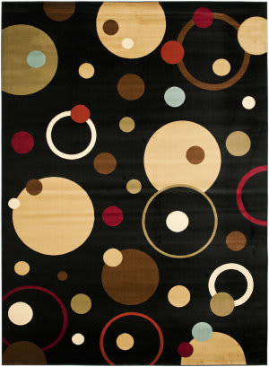 Safavieh Porcello Prl6851 Black / Multi Area Rug