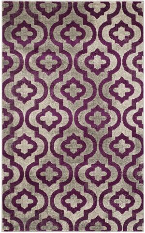 Safavieh Porcello Prl7734 Light Grey - Purple Area Rug