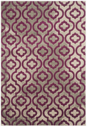 Safavieh Porcello Prl7734b Light Grey - Purple Area Rug