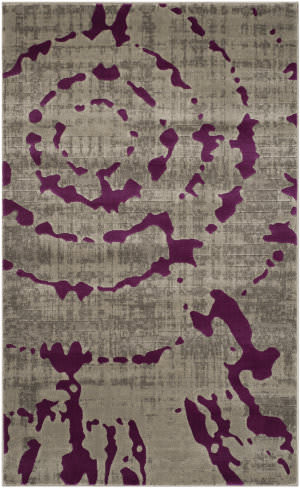 Safavieh Porcello Prl7735 Light Grey - Purple Area Rug