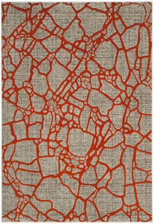 Safavieh Porcello Prl7737f Light Grey - Orange Area Rug