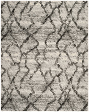 Safavieh Retro Ret2144-7990 Light Grey / Black Area Rug