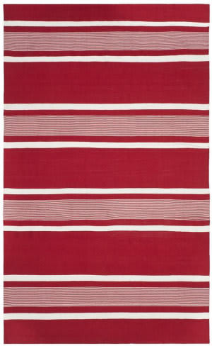 Ralph Lauren Hand Woven Rlr2461d Racing Red Area Rug