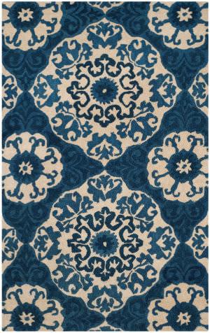 Safavieh Roslyn Ros525a Blue - Ivory Area Rug