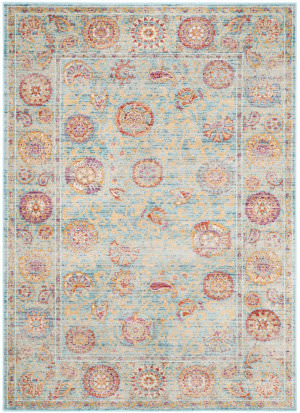 Safavieh Sevilla Sev812c Light Blue - Multi Area Rug