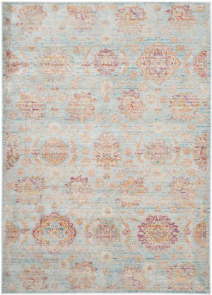 Safavieh Sevilla Sev814c Light Blue - Multi Area Rug