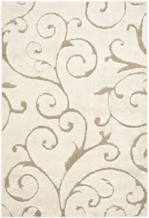 Safavieh Florida Shag Sg455-1113 Cream / Beige Area Rug