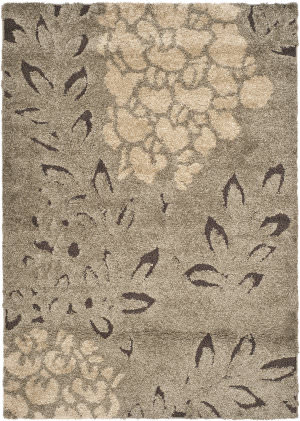 Safavieh Florida Shag Sg456-7928 Smoke / Dark Brown Area Rug