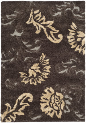 Safavieh Florida Shag Sg463 Dark Brown / Smoke Area Rug