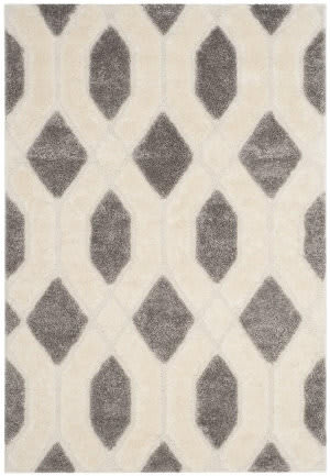 Safavieh Memphis Shag Sg833g Grey - Cream Area Rug