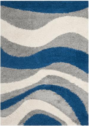 Safavieh Shag Sg913-6580 Blue / Grey Area Rug