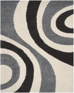 Safavieh Shag Sg915-1280 Ivory / Grey Area Rug