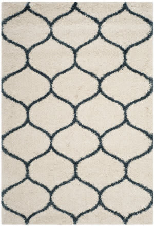 Safavieh Hudson Shag Sgh280t Ivory - Slate Blue Area Rug