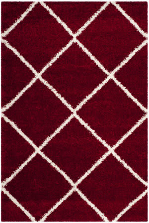Safavieh Hudson Shag Sgh281r Red - Ivory Area Rug