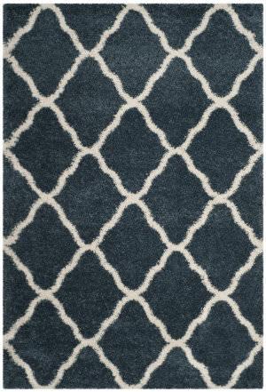 Safavieh Hudson Shag Sgh283l Slate Blue - Ivory Area Rug