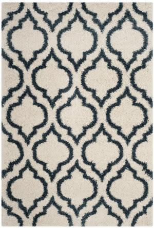 Safavieh Hudson Shag Sgh284t Ivory - Slate Blue Area Rug
