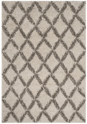 Safavieh Hudson Shag Sgh333a Ivory - Grey Area Rug