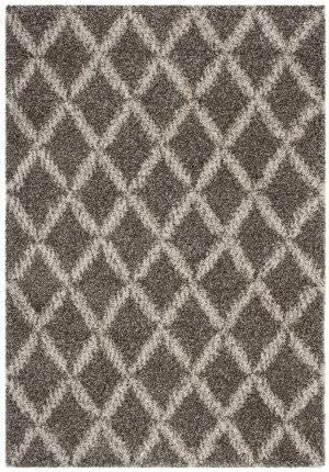 Safavieh Hudson Shag Sgh333b Grey - Ivory Area Rug