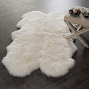 Safavieh Sheepskin Shag Shs121a White Area Rug
