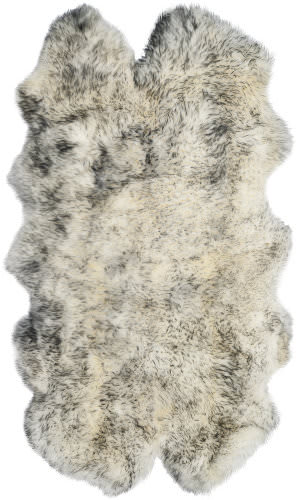 Safavieh Sheepskin Shag Shs121e Ivory - Smoke Grey Area Rug