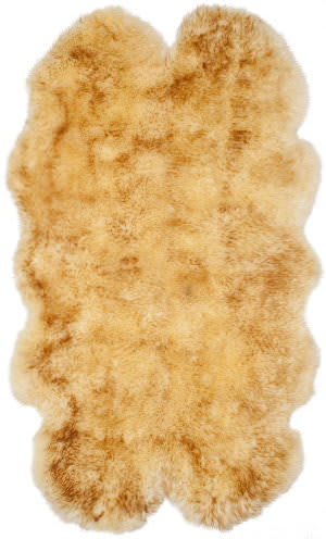Safavieh Sheepskin Shag Shs121k Champagne - Copper Brown Area Rug