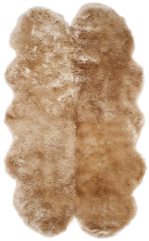 Safavieh Sheepskin Shag Shs121m Natural Beige Area Rug