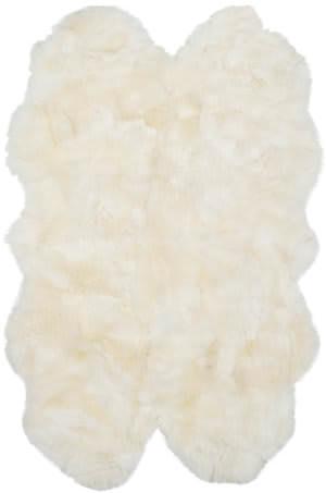 Safavieh Sheep Skin SHS211A White Area Rug