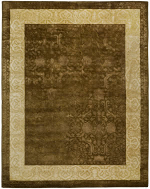 Safavieh Silk Road Skr211a Chocolate / Light Gold Area Rug