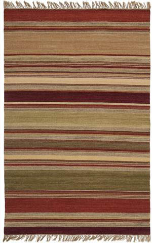 Safavieh Striped Kilim STK313A Red Area Rug