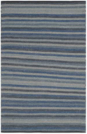 Safavieh Striped Kilim Stk421a Blue Area Rug