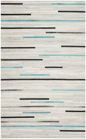 Safavieh Studio Leather Stl171a Grey / Multi Area Rug