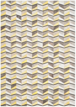 Safavieh Studio Leather Stl173a Ivory - Yellow Area Rug
