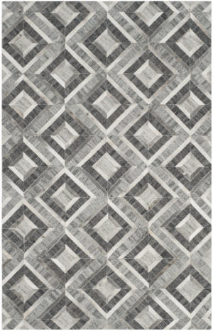 Safavieh Studio Leather Stl221a Ivory - Dark Grey Area Rug