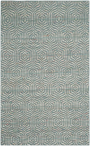 Safavieh Straw Patch Stp212a Blue - Multi Area Rug