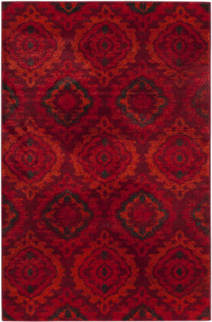 Safavieh Tunisia Tun292a Red - Orange Area Rug