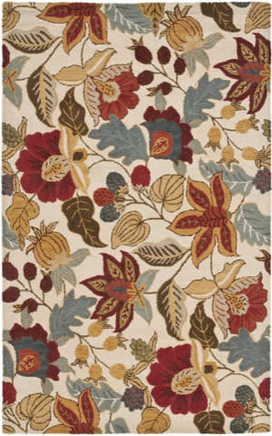 Safavieh Blossom Blm863b Ivory / Multi Area Rug