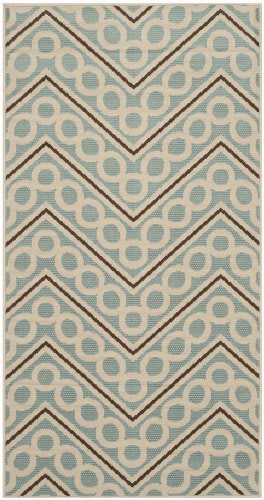 Safavieh Hampton HAM513AL Light Blue / Ivory Area Rug
