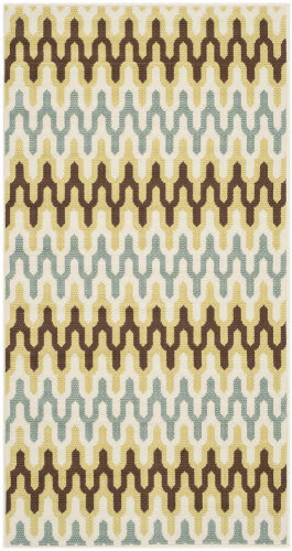 Safavieh Hampton HAM518AG Green / Light Blue Area Rug