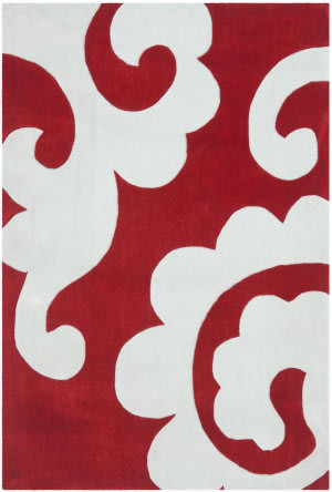 Safavieh Modern Art Mda633a Red / Ivory Area Rug