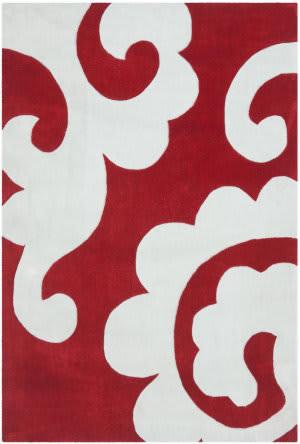 Safavieh Modern Art Mda633a Red / Ivory Area Rug
