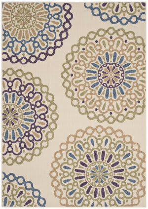 Safavieh Veranda VER092-0514 Cream / Green Area Rug