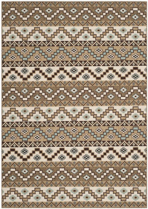 Safavieh Veranda VER095-0215 Creme / Brown Area Rug