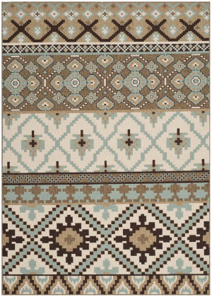 Safavieh Veranda VER097-0215 Creme / Brown Area Rug